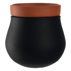 Small Plant Pot Black