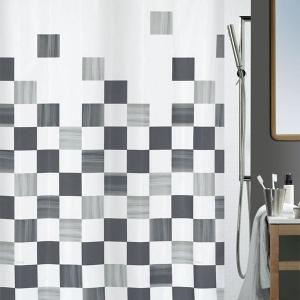 Part Shower Curtain Textile Grey 180 x 200 cm