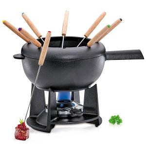 Saas Fee Fondue Set Black