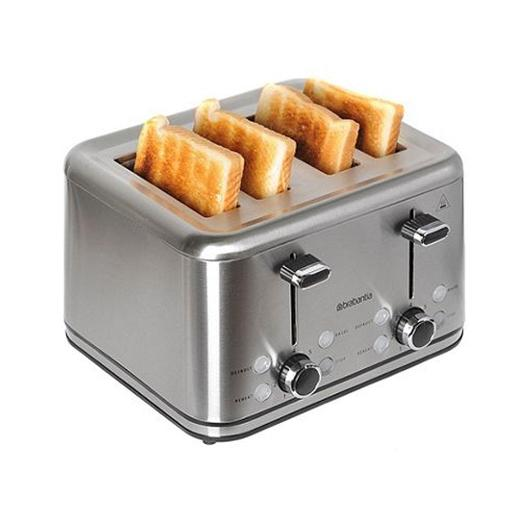 Four Slice Toaster Stainless Steel 1800W