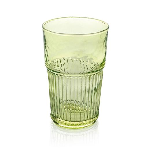 Industrial Chic Tall Tumbler 480ml Set of 6 pieces Green