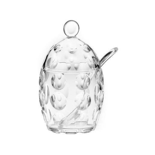 Venice Sugar Bowl with Sugar Spoon Transparent