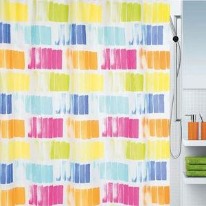 Pittore Shower Curtain Textile Multicolor 180 x 200 cm