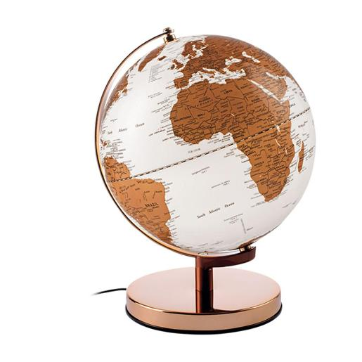 Globes With Led Light Metal Structure And Base