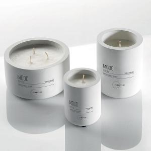 Scented Candles With Ceramic Jar Dia 11cm White