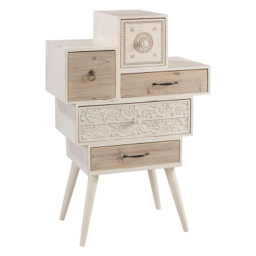 5 Drawers Wooden Cabinet