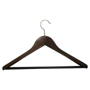 Suit Wide Wooden Hanger Dark Wood
