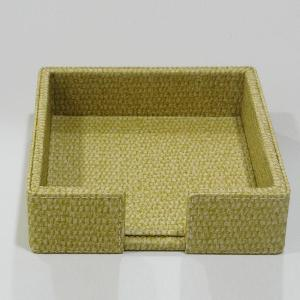 Small Napkin Holder Leather Yellow
