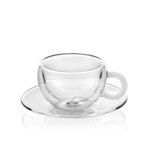 Espresso Cups Double Wall Set of 2 Pieces Clear