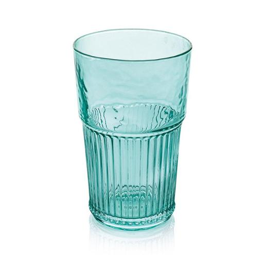 Industrial Chic Tall Tumbler 480ml Set of 6 pieces Turquoise