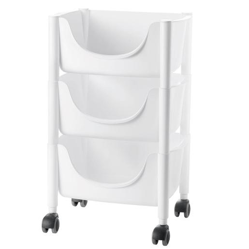 Hold&Roll Vegetables Trolley White