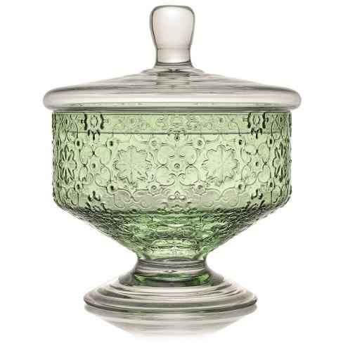 Arabesque Bowl with Lid 18cm Green