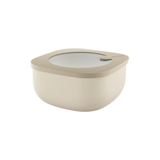 Store And More Shallow Airtight Small Container .975 Liter Clay
