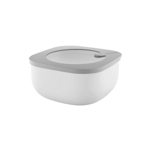Store And More Shallow Airtight Small Container .975 Liter Dark Grey