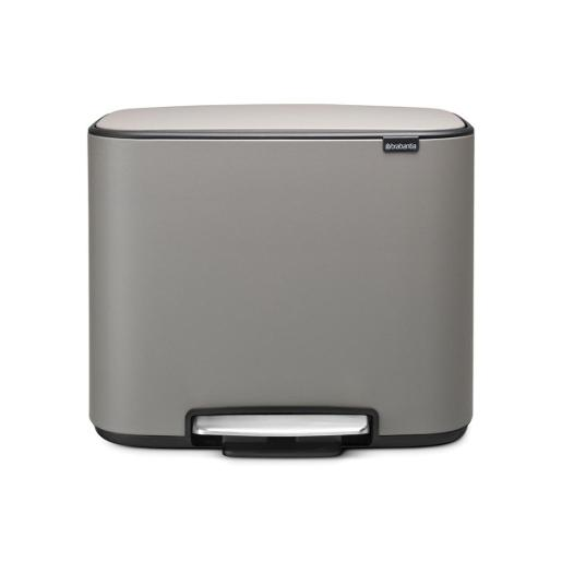 Bo Touch Bin With1 Inner Bucket 36 Litre Mineral Concrete Grey