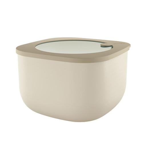Store And More Shallow Airtight Deep Container 2.80 Liter Clay