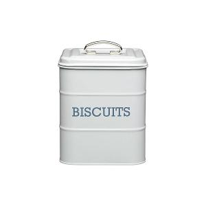 Biscuit Canister Dia 14x19 cm Stainless Steel Grey
