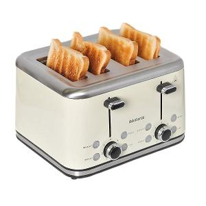 Four Slice Toaster Stainless Steel 1800W Almond