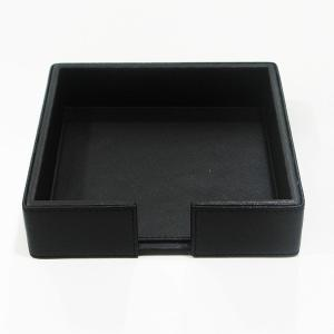 Large Napkin Holder Leather Black