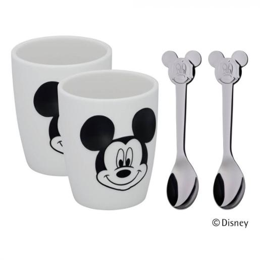 Mickey Mouse Set of Child Dishes From 2 Mugs and 2 Spoons