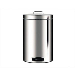 Pedal Bin 12 Liter Brilliant Steel