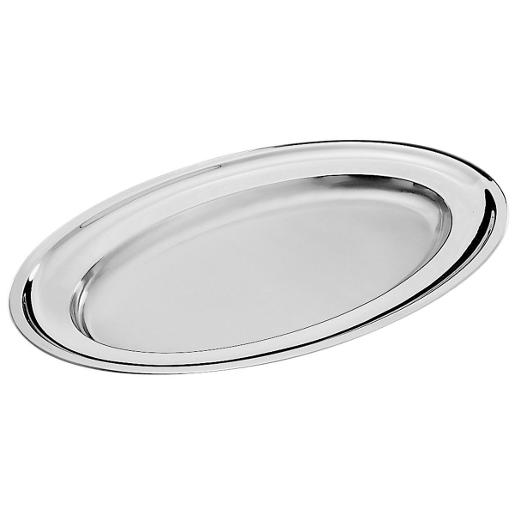 Oval Serving Platter 53x35cm. Stainless Steel