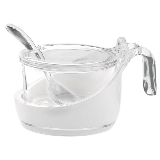 Look Sugar Holder with Lid White