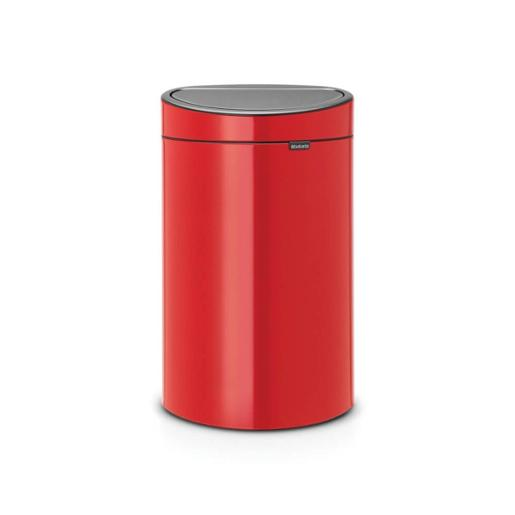 Touch Bin Oval 40 Litre Passion Red