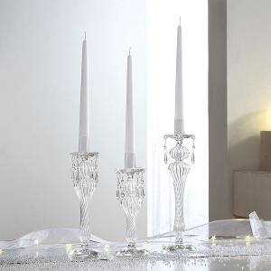 Drops Clear Glass Candle Holders Dia 8,7x24cm