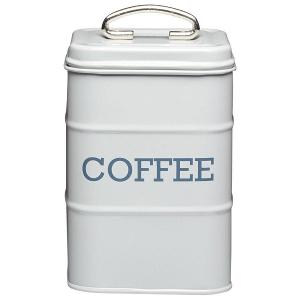 Coffee Canister Dia 11x17 cm Stainless Steel Grey