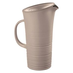 Tierra Pitcher with Lid 1.800 Liter Taupe