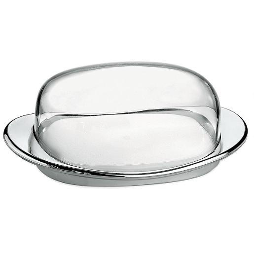 Feeling Butter Dish with Cover Chrome