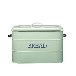 Bread Bin Dia 34x21x25cm Stainless Steel Green