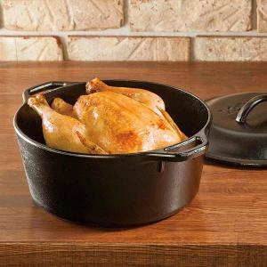 Cast Iron Dutch Oven 6.6Lt Black