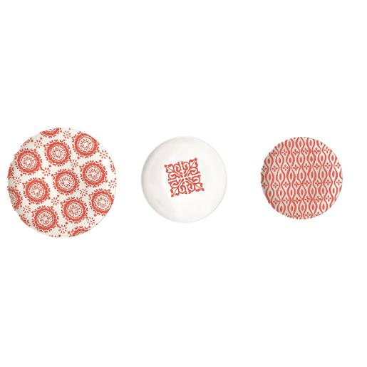 Le Maioliche Dinner Set of 18 Pieces Red