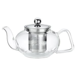 Tea Pot Glass with Filter and Lid 400ml