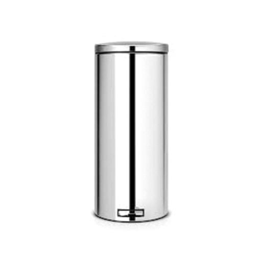 Pedal Bin 30 Liter Brilliant Steel