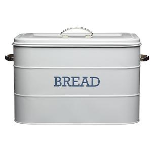 Bread Bin Dia 34x21x25cm Stainless Steel Grey