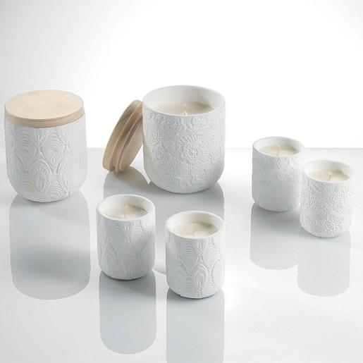 Scented Candles With Ceramic Jar and Wood Lid Dia 30cm