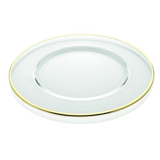 Aria Charger Plate Dia 32cm Clear Gold