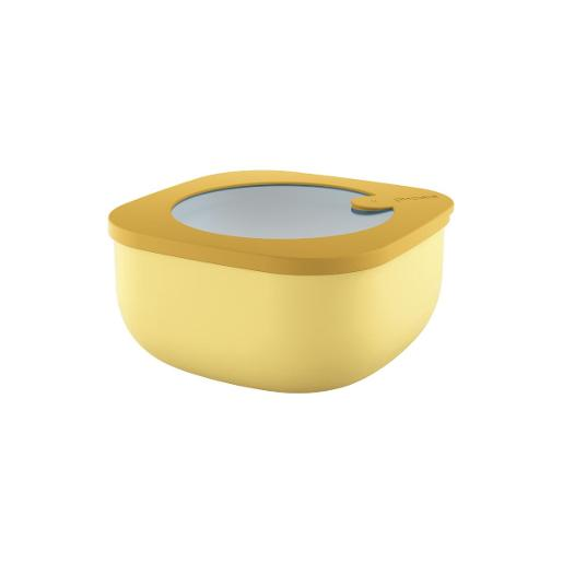 Store And More Shallow Airtight Small Container .975 Liter Ochre