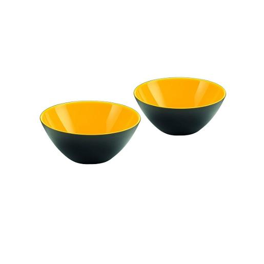 My Fusion Bowls Dia 12cm Black & Yellow Set of 2 Pieces