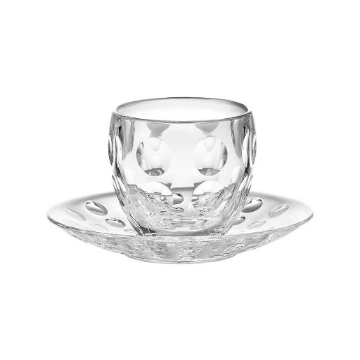 Venice Esspresso Coffee Cup & Saucer Set of 6 Pieces Transparent