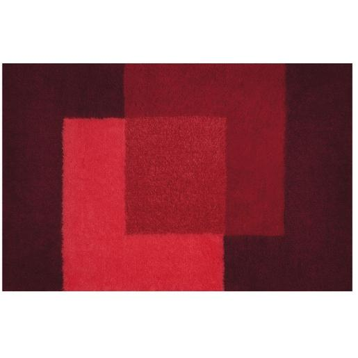 Crossover Bathroom Rug Red 60x90 cm