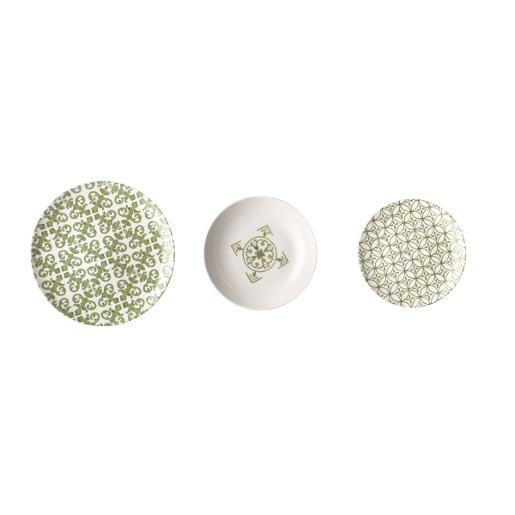 Le Maioliche Dinner Set of 18 Pieces Green