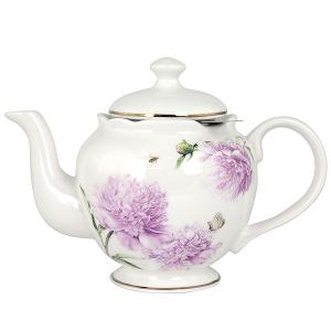 Peonies Pink Tea Tea Pot