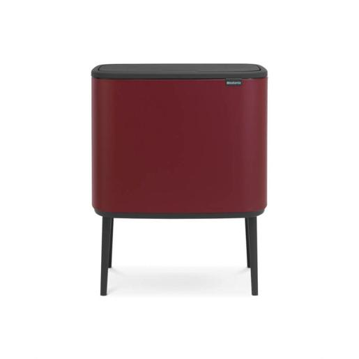Bo Touch Bin With 1 Inner Bucket 36 Litre Mineral Windsor Red