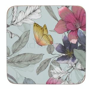 Butterfly Floral Pack Coasters Set of 6 Pieces