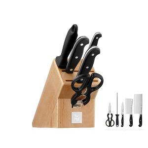 Asia Knife Block With Knives Set of 6 Pieces