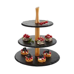 3 Tier Tray Serving Stand Black
